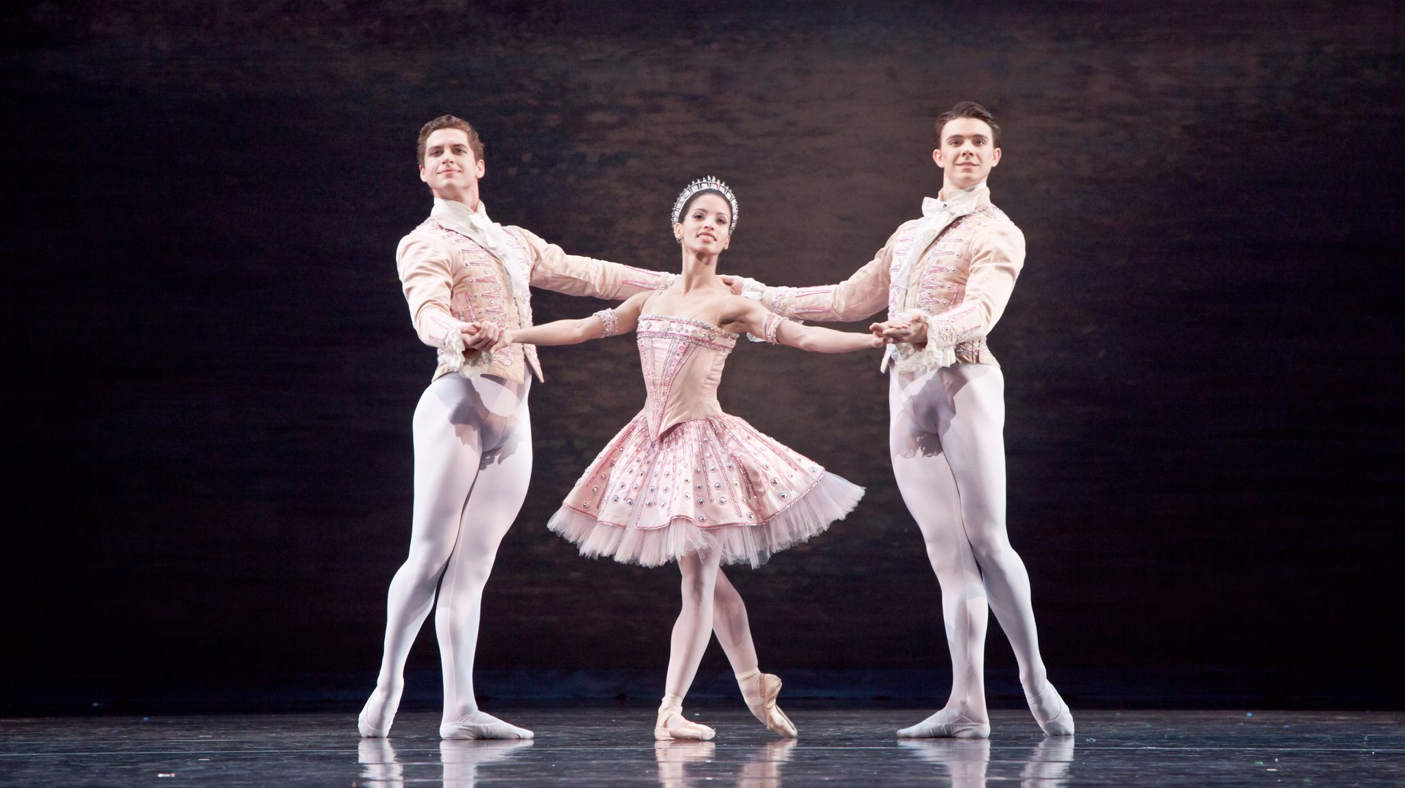 Artists of Houston Ballet in Ballet Imperial. Photo by Amitava Sarkar.