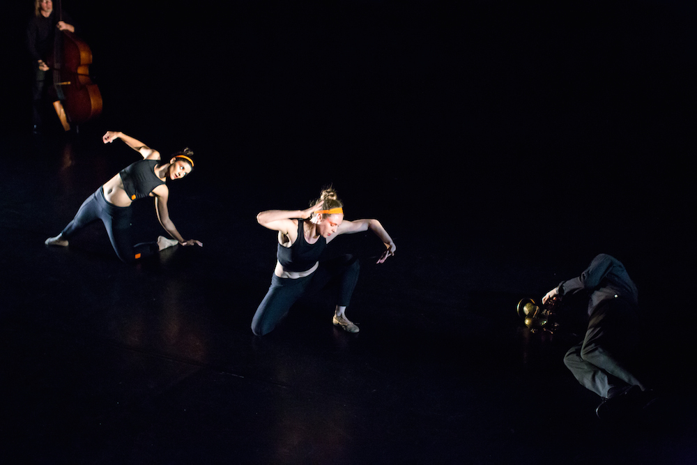 """Fear: a work in progress"" Choreography by Roberta Paixao Cortes. Photo by Lynn Lane. Light design by David Deveau."